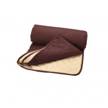 Husa textila SIKS® pentru canapea cu doua fete, 2 locuri, bej/ maro