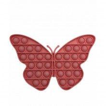 Jucarie antistres SIKS® senzoriala, din silicon, impermeabila, fluturas, roz