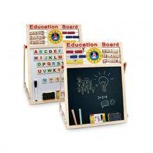 Tabla multifunctionala EDAR® pentru copii, accesorii de scris, cifre, litere, burete, ceas