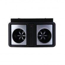 Aparat SIKS® cu 2 boxe speciale contra rozatoarelor insectelor cu ultrasunete Dual Sonic, negru