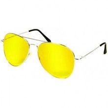 Ochelari EDAR® pentru condus noaptea pe ploaie sau ceata, rama metalica, lentile galbene