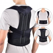 Suport corector SIKS® pentru spate si umeri, ajustabil, negru