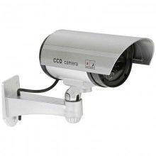Camera de supraveghere SIKS®, falsa, pentru exterior, cu lumina LED