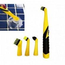 Set perie SIKS® cu 4 accesorii pentru curatare multisuprafete, curatare rapida