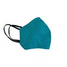 Masca verde de protectie SIKS® din bumbac, pentru adulti, 2 straturi, reutilizabila, cu elastic