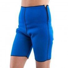 Pantaloni sport SIKS® pentru slabit, din neopren, bermude reversibile, albastru, masura L