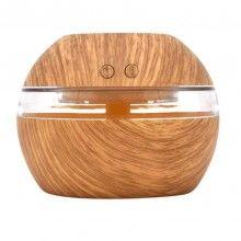 Difuzor aromaterapie EDAR® umidificator 300 ml, USB, purificator, lemn deschis
