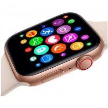 Smartwatch SIKS®, functie bluetooth, agenda telefonica, monitorizarea somnului, alarma, calendar, rose gold