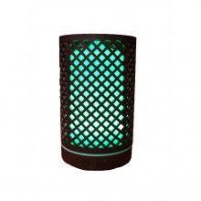 Umidificator cu led SIKS® umidificator aromaterapie model romb, culoare lemn inchis