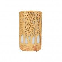 Umidificator aromaterapie SIKS® lumina led in 7 culori, model copaci, culoare lemn deschis
