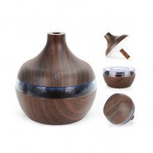 Umidificator aromaterapie EDAR® difuzor de arome cu rezervor 300 ml, culoare lemn inchis