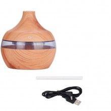 Umidificator aromaterapie EDAR® difuzor de arome, rezervor 300 ml, culoare lemn deschis