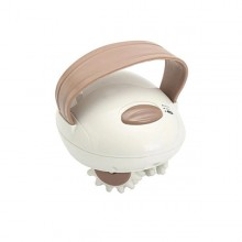 Aparat de masaj EDAR® impotriva celulitei, electric, 6 roti rotative, 2 trepte de viteza, alb
