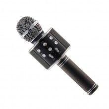 Microfon karaoke SIKS® profesional cu boxa inclusa, SD Card, USB, AUX, Negru