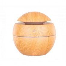 Umidificator SIKS® cu ultrasunete, aromaterapie, cablu USB, 7 culori LED diferite, bej
