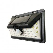 Lampa SIKS® solara, senzor de miscare, pentru perete, 32 led, negru