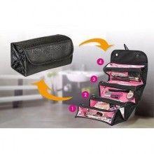 Geanta organizator SIKS® pentru cosmetice, make-up sau accesorii, 4 compartimente