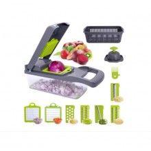Razatoare SIKS® multifunctionale, 7 lame interschimbabile, legume, gri/verde