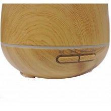 Umidificator ultrasunete SIKS® difuzor aroma, imitatie lemn, rezervor 550 ml, lemn deschis