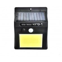 Lampa solara SIKS® cu senzor de miscare, pentru perete, 48 leduri, negru
