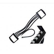 Extensor cu 5 tuburi EDAR® elastice, maner ergonomic, pentru fitness, antrenament