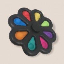 Jucarie antistres SIKS® rotativa, interactiva, pentru adulti si copii, model negru multicolor