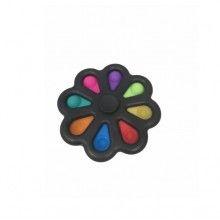 Jucarie EDAR® antistres cu 8 bule de silicon, joc interactiv, model negru multicolor