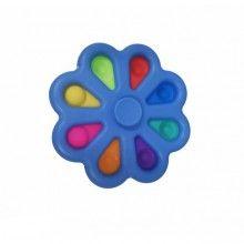 Jucarie antistres SIKS® rotativa, interactiva, pentru adulti si copii, model albastru multicolor
