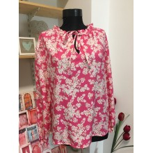 Camasa dama roz cu imprimeu floral