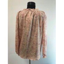 Camasa dama roz pal cu imprimeu floral