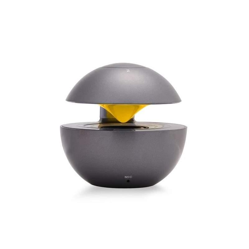 Mini Boxa portbabila SIKS® cu LED multicolor, wireless, bluetooth, USB, Card, Radio, design unic, gri