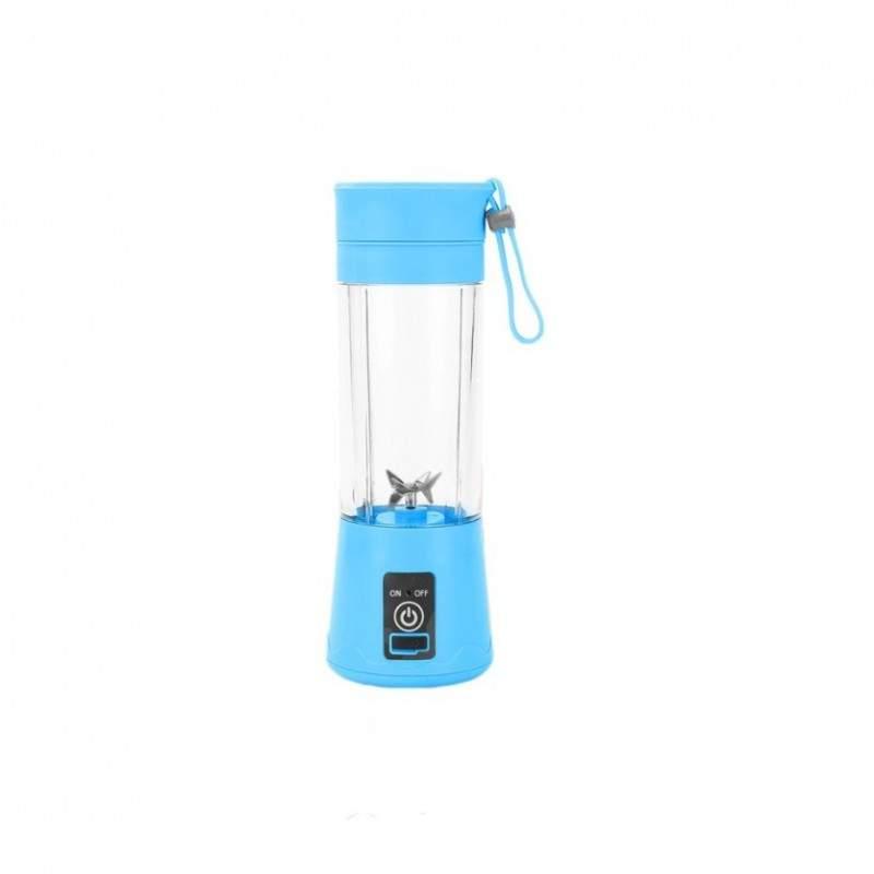 Blender electric SIKS® cu USB si 6 lame, portabil, albastru