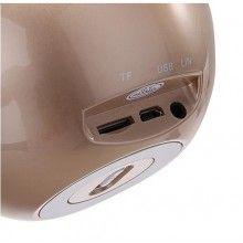 Mini Boxa portbabila SIKS® cu LED multicolor, wireless, bluetooth, USB, Card, Radio, design unic, gold