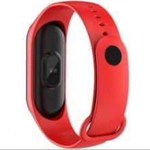 Bratara fitness SIKS®, masurare ritm cardiac si alte functii ale organismului, USB, Bluetooth, culoarea rosie