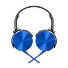 Casti SIKS® cu microfon, conectivitate prin fir, compatibile pentru telefon si laptop, Albastre