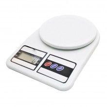 Cantar electronic SIKS® cu capacitate maxima 10kg, alb