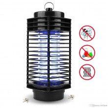 Lampa SIKS® cu lumina ultra violeta anti insecte pentru gradina, negru