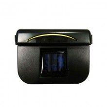 Ventilator auto cu incarcare solara SIKS® 150 x 112 x 54 mm, Negru