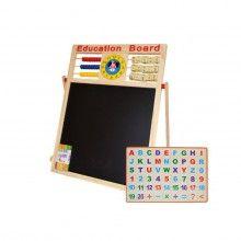 Tabla magnetica SIKS® cu 2 fete, educationala, de scris si desenat pentru copii