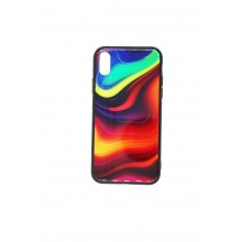 Husa iPhone X multicolor