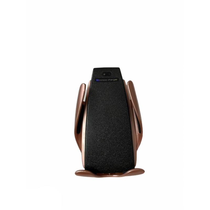 Incarcator SIKS® wireless si suport telefon auto s5 Rose Gold