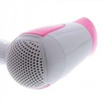 Uscator pentru par SIKS® cu 2 trepte de viteza, culoare roz cu alb, 1200W