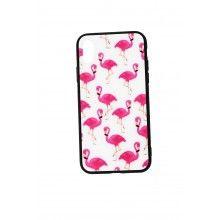Husa iPhone X cu flamingo