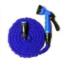 Furtun expandabil SIKS® pentru gradina, cu reglare presiune, cu dimensiunea pana la 45 m, albastru