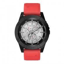 Smartwatch SIKS® Bluetooth cu SIM card, autonomie 12h, 1.54 inch, sport, rosu