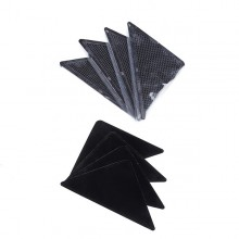 Set 8 Benzi SIKS® antialunecare pentru covor, culoare Negru