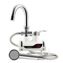 Robinet electric pentru apa calda cu montare pe perete