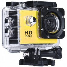Camera Sport Waterproof SIKS®, HD 1080P, 12M, 2 inch, Autonomie 90 min, Galben