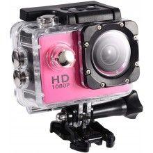 Camera Sport Waterproof SIKS®, HD 1080P, 12M, 2 inch, Autonomie 90 min, Roz
