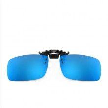 Lentile SIKS® pentru ochelari CLIPS ON, polarizate, ideale pentru condus ziua, albastru
